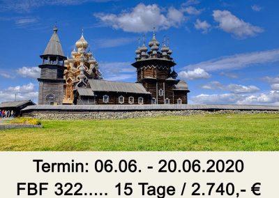 FBF 322 Moskau – Karelien – St. Petersburg