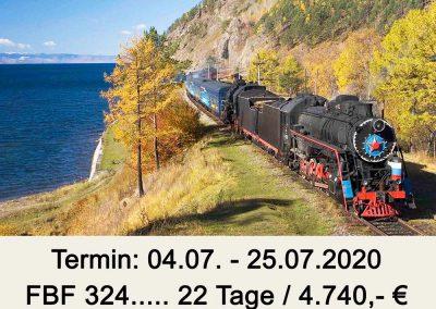FB 324 Baikalsee – Transsib – Moskau
